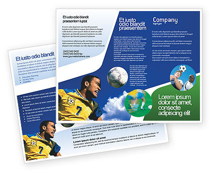 Head In Soccer Brochure Template, 02365, Sports — PoweredTemplate.com