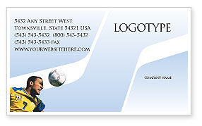Sports: Head In Soccer Business Card Template #02365