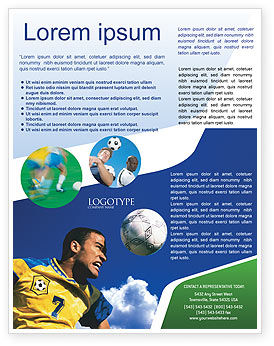 Sports: Head In Soccer Flyer Template #02365