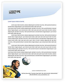 Sports: Head In Soccer Letterhead Template #02365