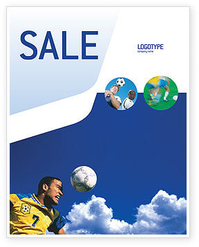 Sports: Head In Soccer Sale Poster Template #02365
