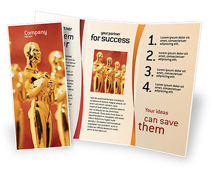 Art & Entertainment: Movie Award Brochure Template #02371