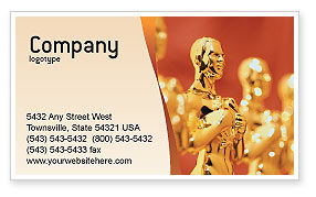 Art & Entertainment: Movie Award Business Card Template #02371