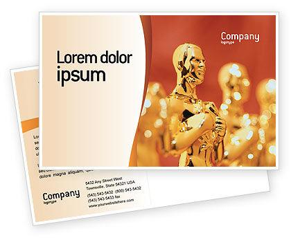 Movie Award Postcard Template, 02371, Art & Entertainment — PoweredTemplate.com