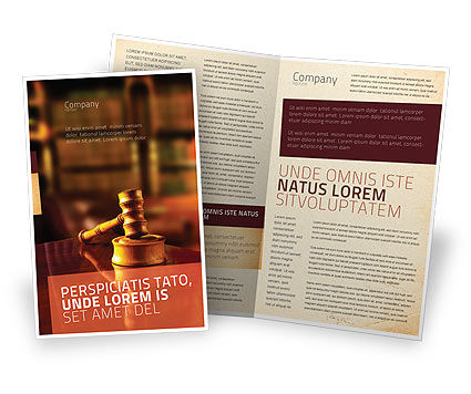 Juridical Brochure Template, 02373, Legal — PoweredTemplate.com