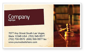 Juridical Business Card Template, 02373, Legal — PoweredTemplate.com