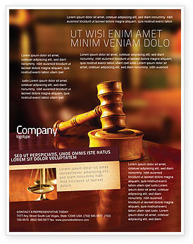 Juridical Flyer Template, 02373, Legal — PoweredTemplate.com