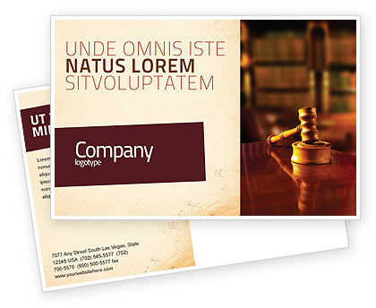 Juridical Postcard Template, 02373, Legal — PoweredTemplate.com