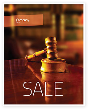 Juridical Sale Poster Template