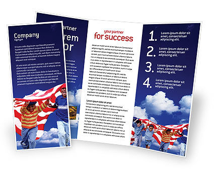 Children Of The USA Brochure Template, 02377, America — PoweredTemplate.com