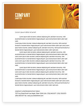 Agriculture and Animals: Baking Letterhead Template #02379