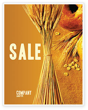 Agriculture and Animals: Baking Sale Poster Template #02379