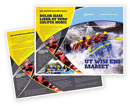 Rafting Brochure Template, 02380, Sports — PoweredTemplate.com