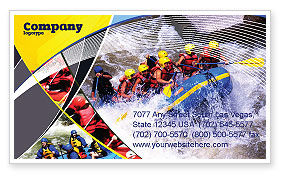 Sports: Rafting Visitekaartje Template #02380