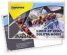 Sports: Rafting Postcard Template #02380