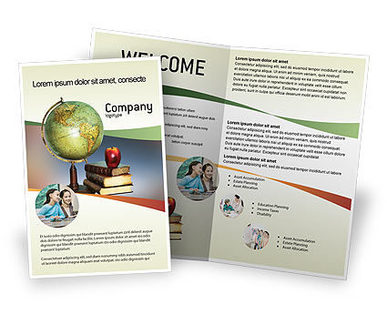 Task Brochure Template, 02383, Education & Training — PoweredTemplate.com