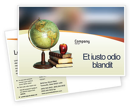 Education & Training: Plantilla de la postal - tarea #02383