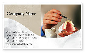 Medical: Denture Business Card Template #02385