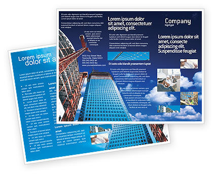 Building company brochure template design and layout for Construction brochure design pdf