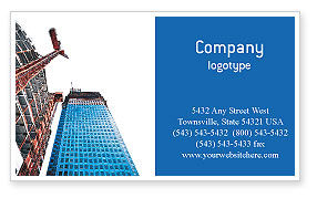 Construction: Building Company Business Card Template #02402