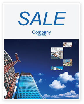Construction: Building Company Sale Poster Template #02402