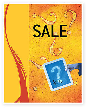 Question Mark In Quiz Sale Poster Template