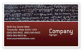 Education & Training: Algebraic Formulas Business Card Template #02406