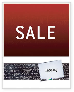 Algebraic Formulas Sale Poster Template, 02406, Education & Training — PoweredTemplate.com