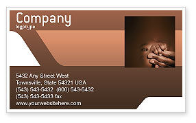Baby Fingers Business Card Template, 02409, People — PoweredTemplate.com