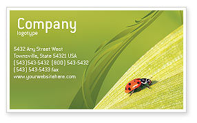 Nature & Environment: Lady-beetly Business Card Template #02410