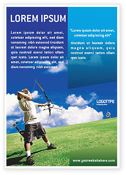 Archery Ad Template, 02411, Sports — PoweredTemplate.com