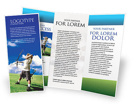Archery Brochure Template, 02411, Sports — PoweredTemplate.com