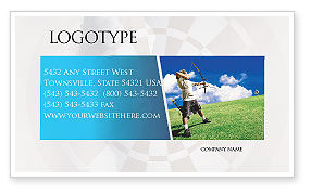 Sports: Archery Business Card Template #02411