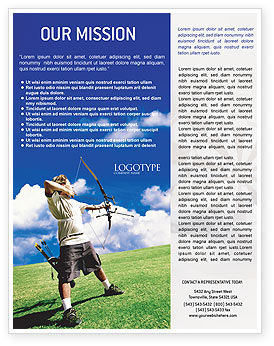 Archery Flyer Template, 02411, Sports — PoweredTemplate.com