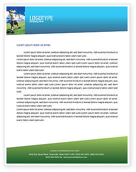 Sports: Archery Letterhead Template #02411