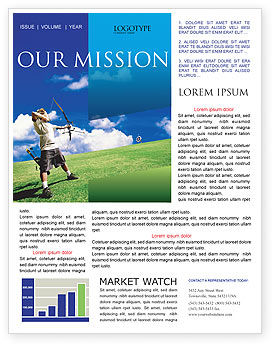 Sports: Archery Newsletter Template #02411