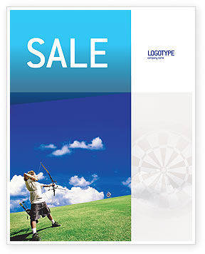 Sports: Archery Sale Poster Template #02411
