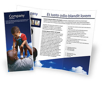 Father Day Brochure Template, 02413, People — PoweredTemplate.com