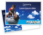 People: Father Day Postcard Template #02413
