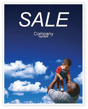 Father Day Sale Poster Template, 02413, People — PoweredTemplate.com