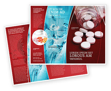 Pills From The Bottle Brochure Template Design And Layout - Free medical brochure templates