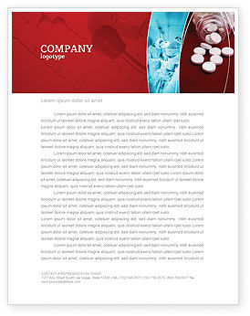 Medical: Pills From The Bottle Letterhead Template #02414