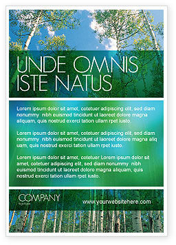 Nature & Environment: Forest Ad Template #02415