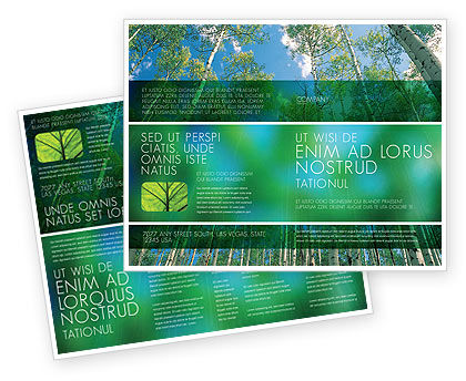Nature & Environment: Forest Brochure Template #02415