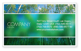 Nature & Environment: Forest Business Card Template #02415