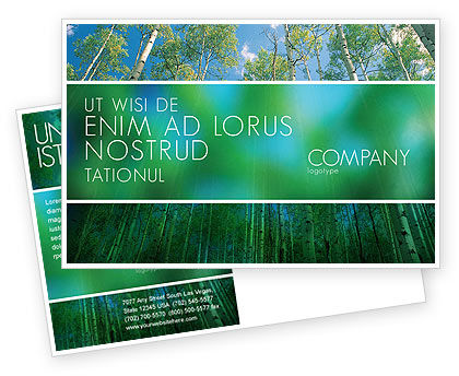 Nature & Environment: Forest Postcard Template #02415