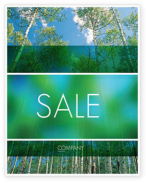 Nature & Environment: Forest Sale Poster Template #02415