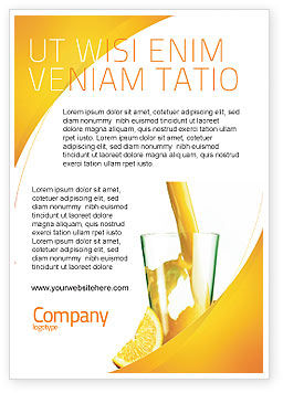 Food & Beverage: Sinaasappelsap Advertentie Template #02416
