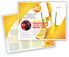 Food & Beverage: Orange Juice Brochure Template #02416