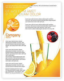 Food & Beverage: Orange Juice Flyer Template #02416